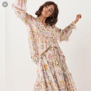 New spell wild bloom maxi skirt
